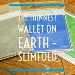 グレー、青、緑のslimfold財布