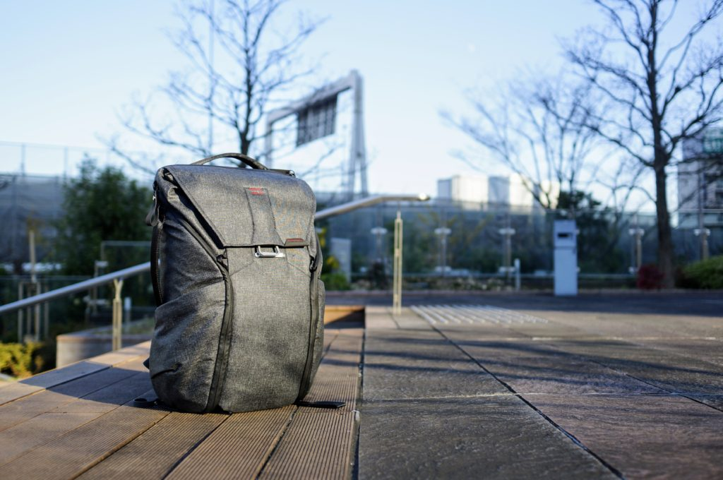 Peak Design Everyday Backpack Drone stands on its own