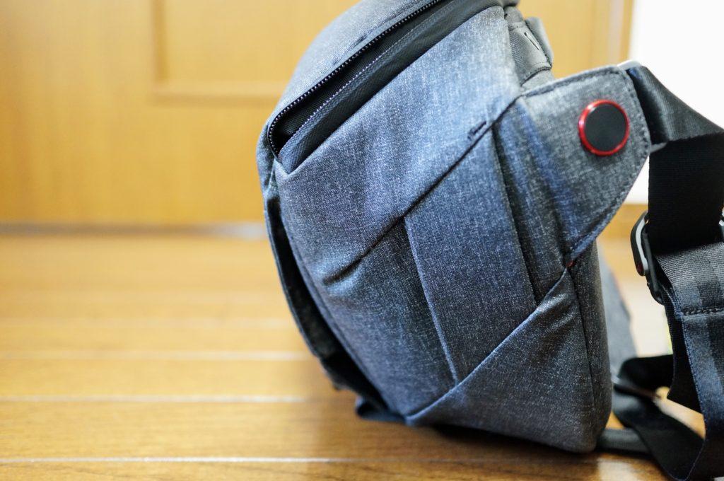 Peak Design Everyday sling cinched down