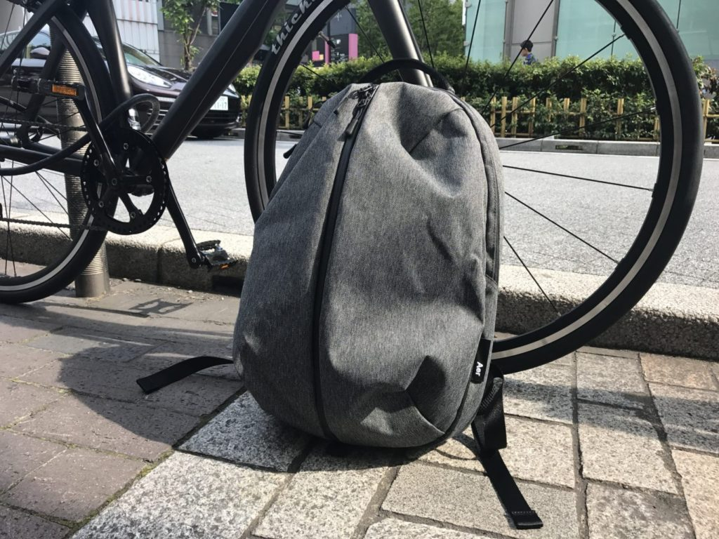 Aer Fit Pack bicycle in the back