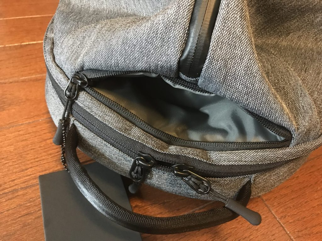 aer fit pack quick access pocket