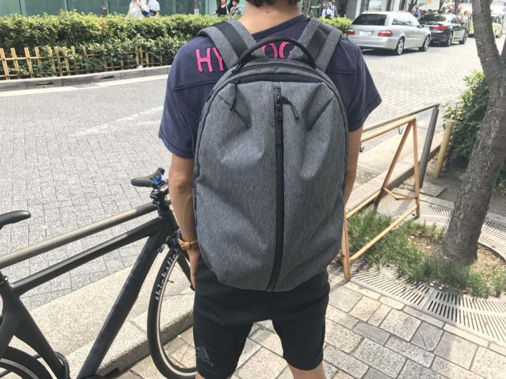 aer fit pack straps on back
