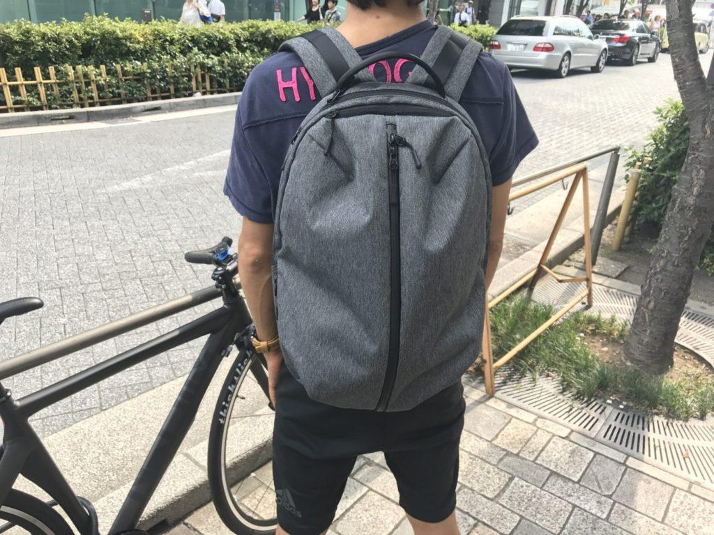 aer fit pack straps on back