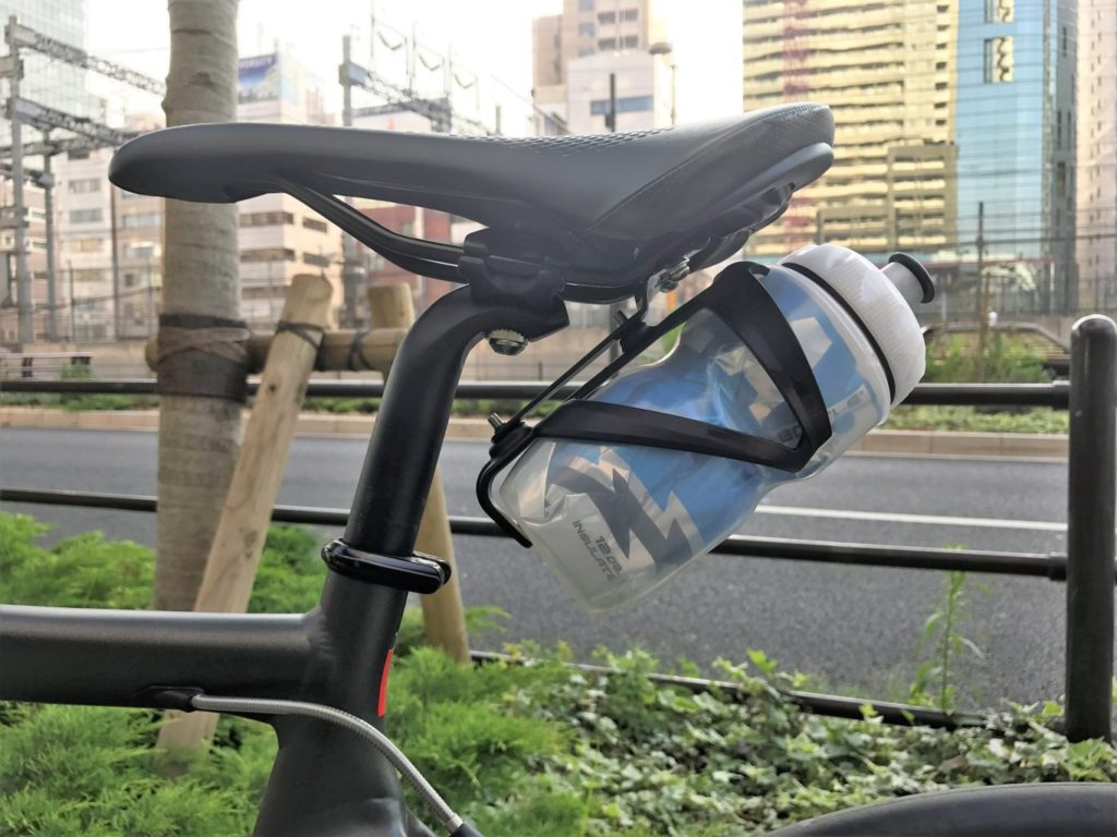 bottle cage with polar bottle