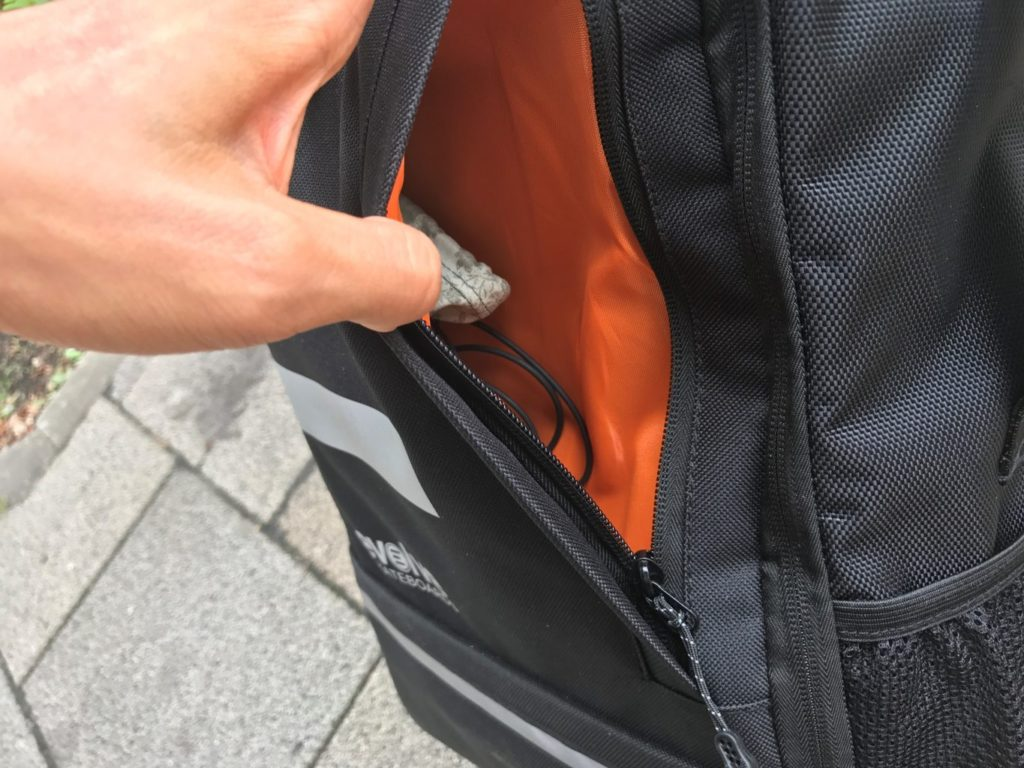 evolve backpack front pocket