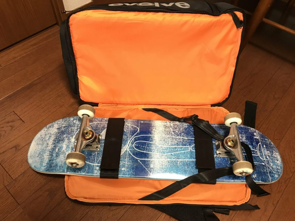 evolve backpack with short board
