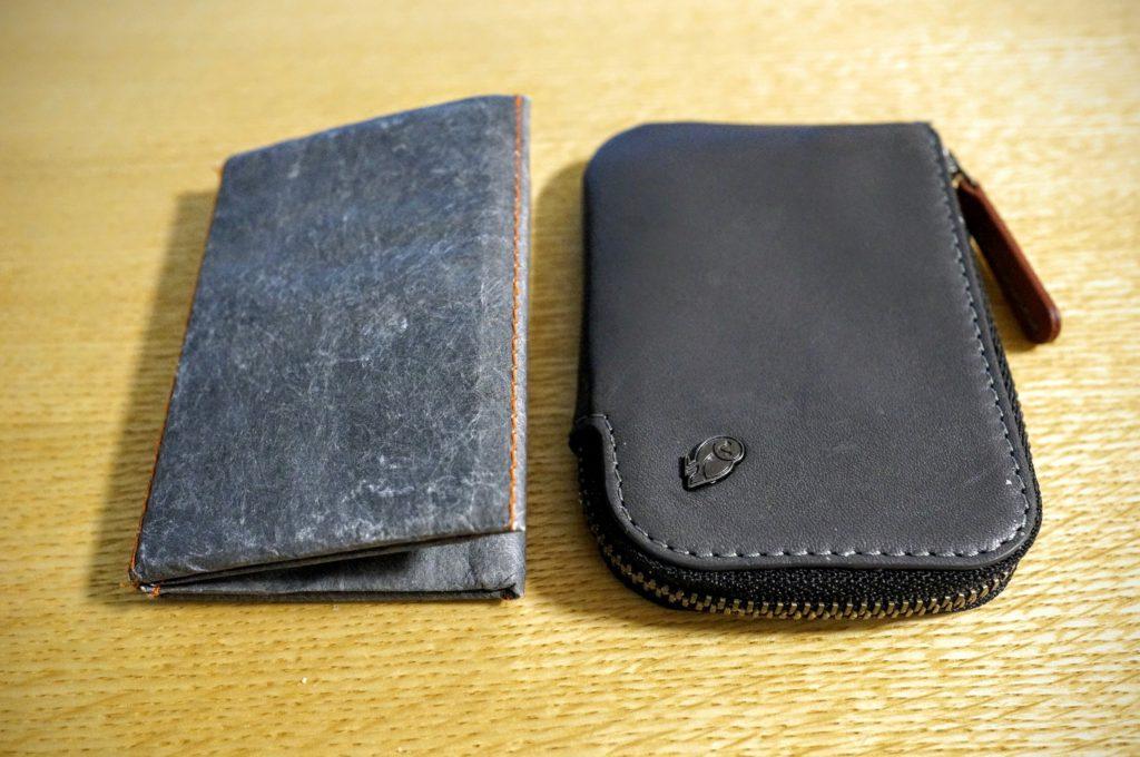 左にslimfold 右にベルロイ財布カードポケット