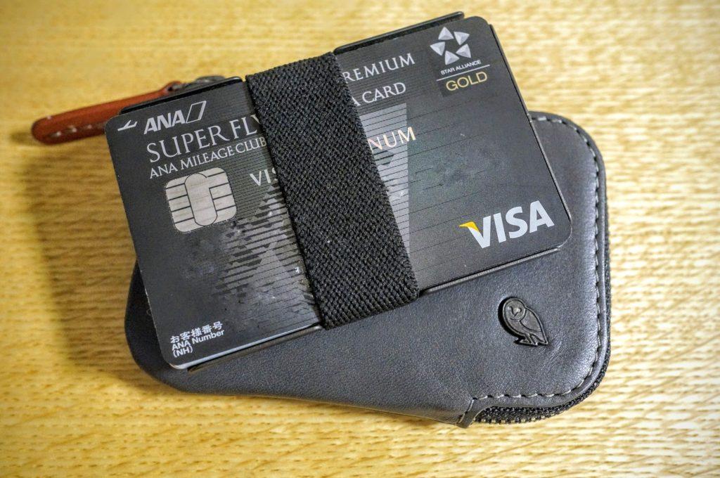 machine era slim walletの下にベルロイカードポケット財布