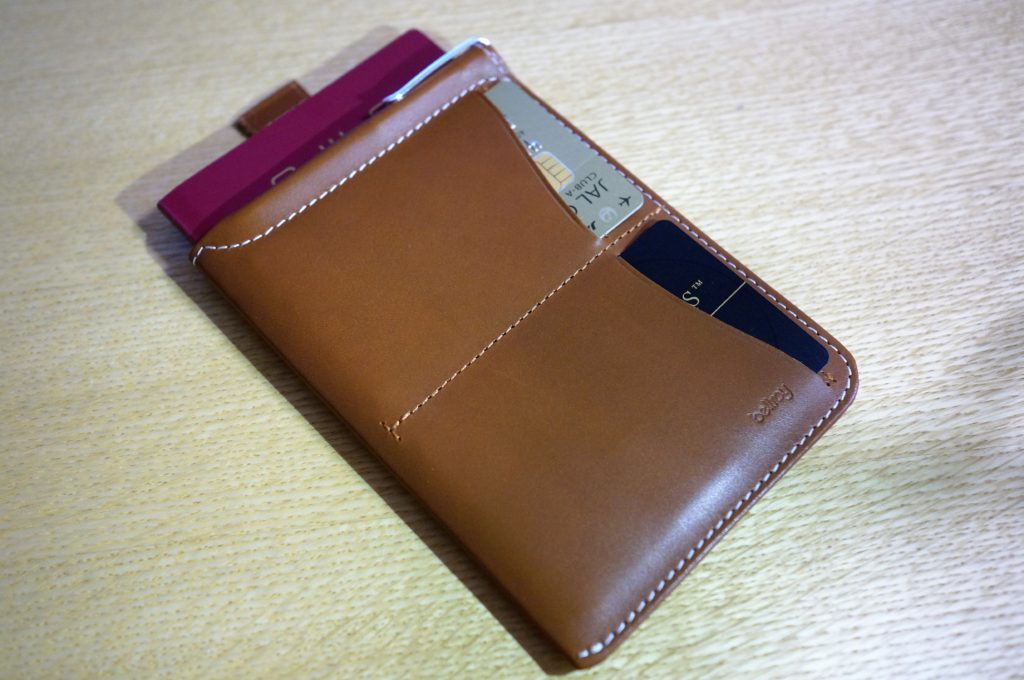 Bellroy passport sleeve with cards