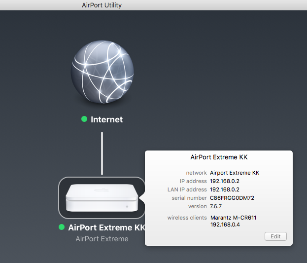 airport extreme auひかり 設定