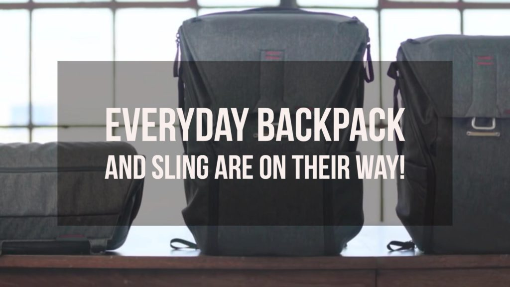 Pleak design everyday backpack and sling are on their way