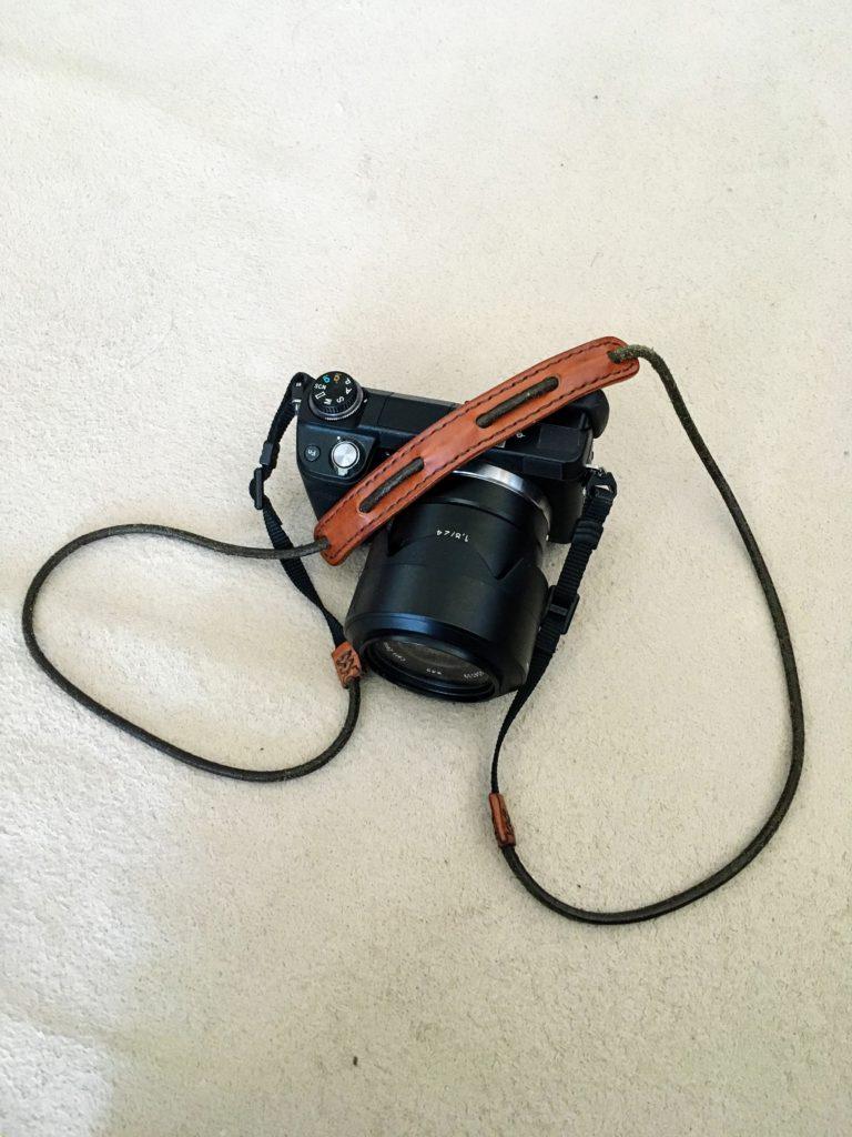 camera strap on NEX 6