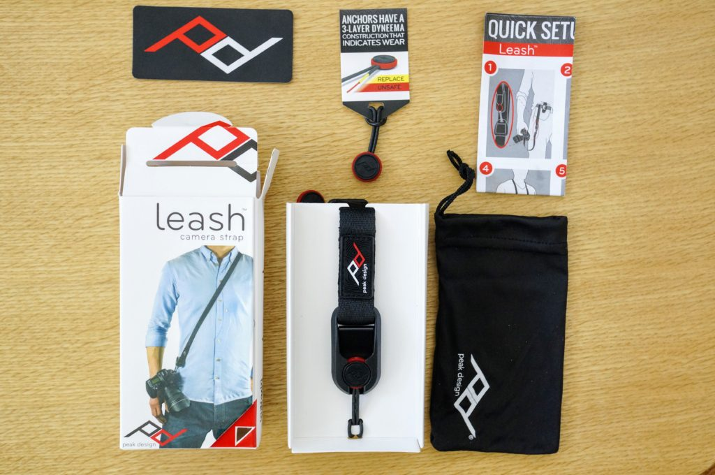 peak design camera strap leash package