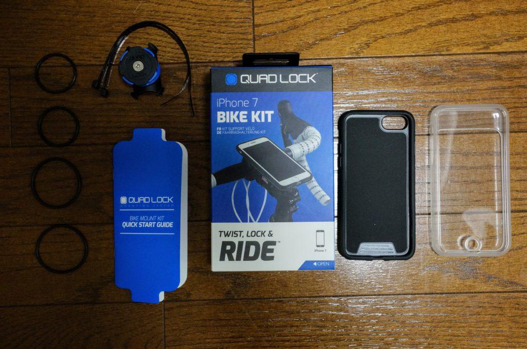 クアッドロック バイクキット iphone7 付属品