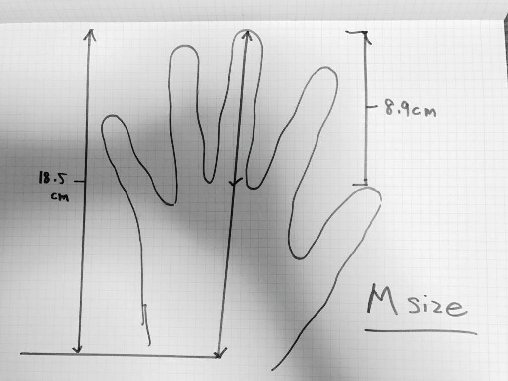 honns gloves oliver size