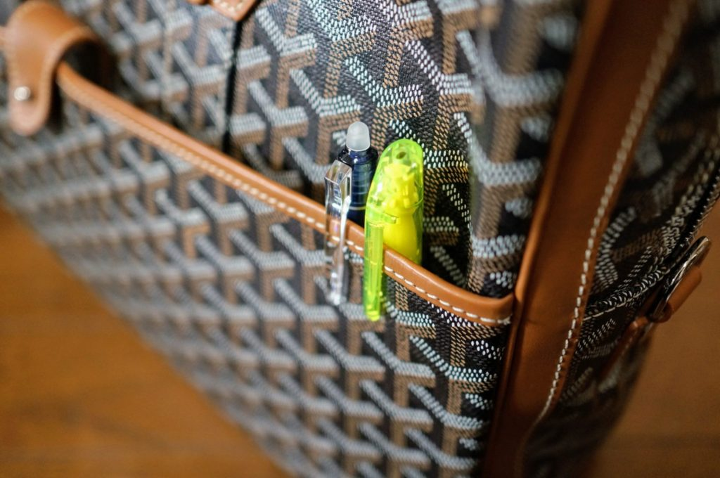 goyard ambassade front pocket with pen