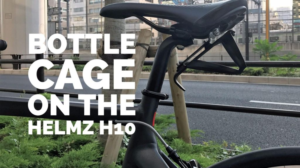 bottle cage on the helmz h10