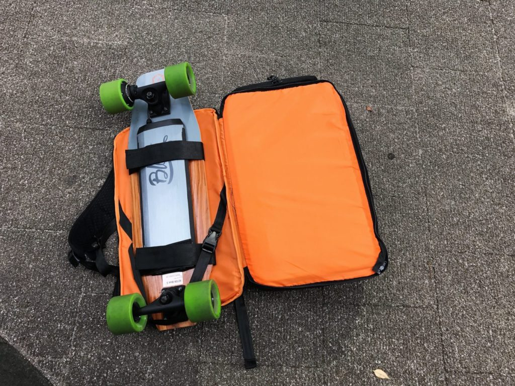 evolve backpack board attached