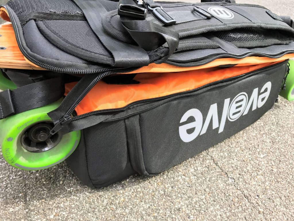 evolve backpack lid closed