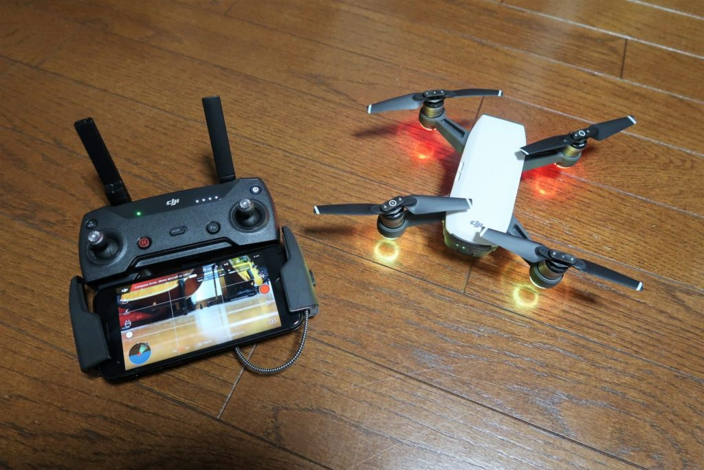 dji spark lighthing connector remote connection