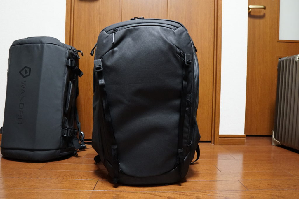 23 travelbackpack stands on its own