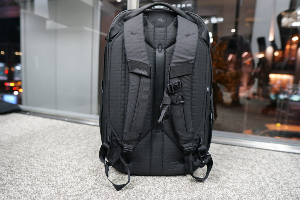 34 travel backpack by the window