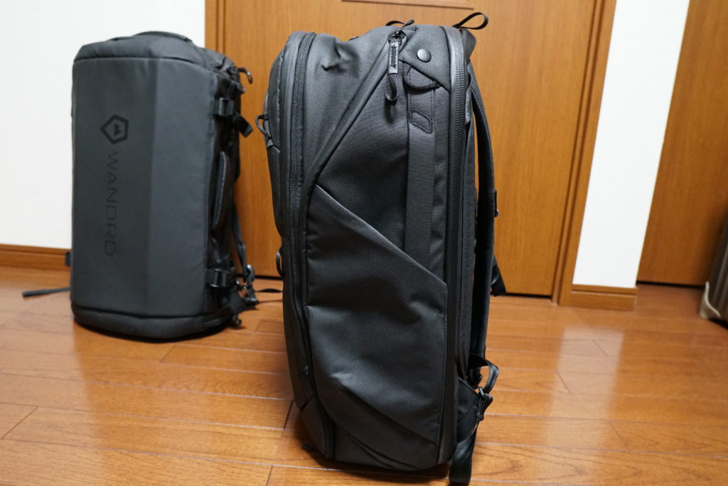5 travel backpack from the side