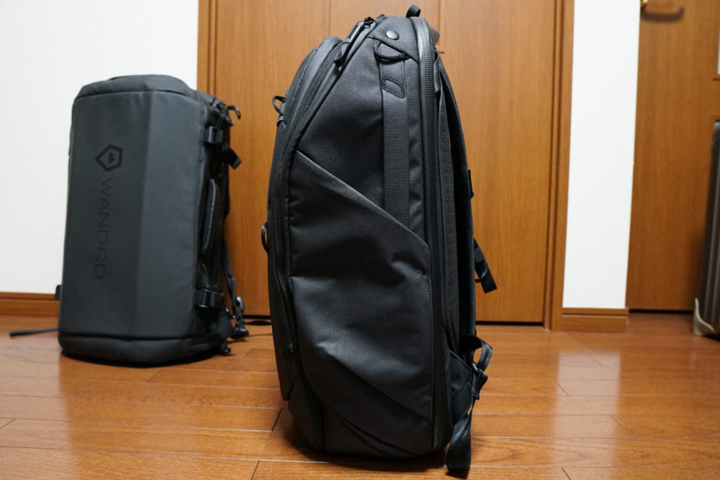 6 travel backpack side tucked in