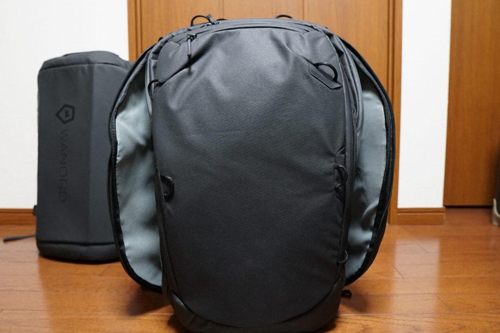 7 travel backpack side pocket open