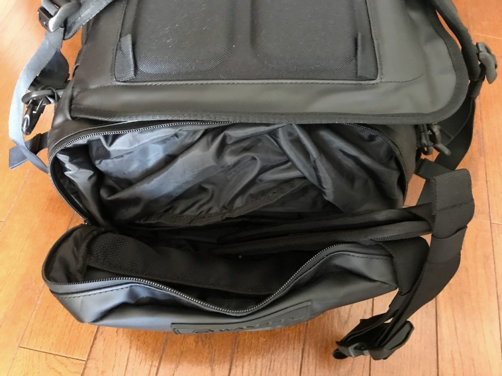 hexad duffel buttom shoe compartment
