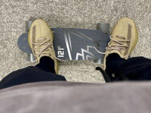 Yeezy Boost 350 V2 Earth skate board